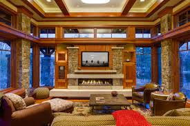 Arts And Crafts Interior Arts And Crafts Prairie In Wayzata Craftsman Living Room