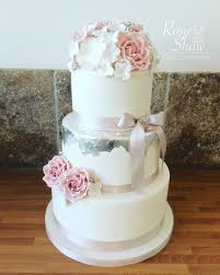 pink and silver wedding cake rosie shaw cake company bristol