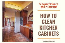 how to freshen up stained kitchen cabinets 5 ways to clean wooden kitchen cabinets from the