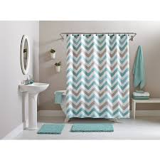 better homes and gardens chevron 15 piece bath set teal brown