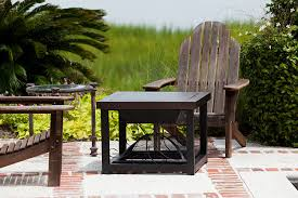 Patio With Firepit Amazon Com Fire Sense Cocktail Table Fire Pit Hammer Tone