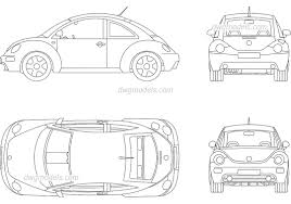 volkswagen bug drawing volkswagen beetle 2009 cad blocks free download autocad model