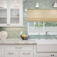 Farm Sink With Backsplash by White And Green Kitchen With Farmhouse Sink Kitchen Pinterest