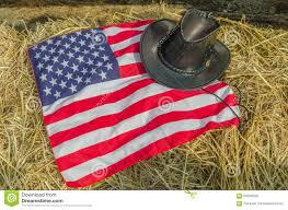 Usa Flag Hats American Flag And Cowboy Hats Stock Illustration Illustration Of