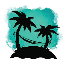 palm tree hammock drawing clip art vector images u0026 illustrations