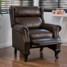 Leather Club Chair Amazon Com Curtis Dark Brown Leather Recliner Club Chair Kitchen