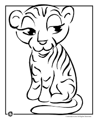coloring page tigers tiger cub coloring page woo jr kids activities