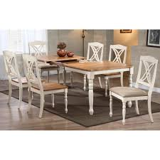 meredith 7 piece extending dining set x splat chairs caramel