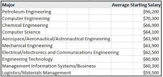 petroleum engineering colleges engineering degrees are among the top earning degrees in the usa