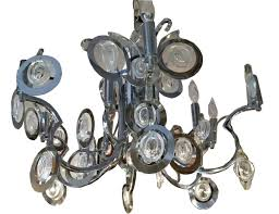 Chrome Crystal Chandelier by Sciolari Chrome And Crystal Chandelier Modernism
