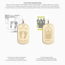Custom Gold Dog Tags Men U0027s 14k Gold Flat Edge Dog Tag Medium Engravable Sandy