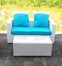 White Patio Furniture Set 2 Caribbean White Wicker Outdoor Pe Rattan Wicker Patio