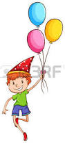 illustration of a simple drawing of the coloured balloons on