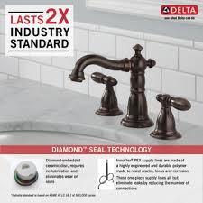 Delta Faucet 3555lfss 216ss Victorian by 35955 Rb Dst Two Handle Widespread Lavatory Faucet