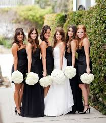 Pink And Black Bridesmaid Dresses Love The Different Style Dresses But I Would Have Blush Pink