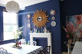 deep blue something so i repainted my dining room swoon worthy