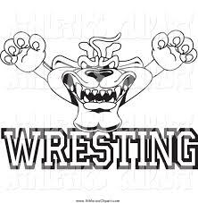 wrestling mascot clipart 53