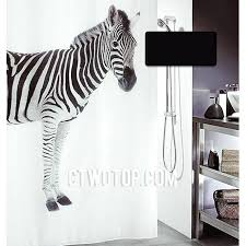 Animal Shower Curtains Zebra Animal Cool Designer Unique Black And White Shower Curtains