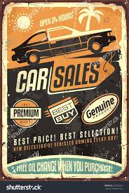 vintage cocktail posters car sales vintage vector sign design stock vector 623351681