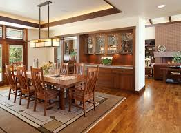 Mission Style Dining Room Furniture Craftsman Chandelier Dining Room Craftsman With Built In Hutch