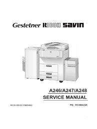ricoh ft 7950 service manual photocopier image scanner