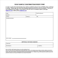Order Confirmation Template by Approval Form Template Word Template
