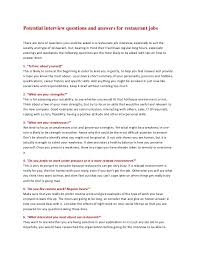 job interview personality questions potential interview questions and answers