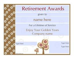 retirement certificate template hitecauto us