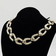 vintage chokers necklace images Vintage signed jaycraft 1940 39 s silver tone horseshoe shaped link jpg