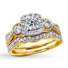 yellow gold wedding ring sets wedding rings trio wedding ring sets his hers trio wedding ring