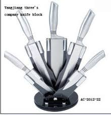 knife set with acrylic stand kitchen knife set modern id 7175633