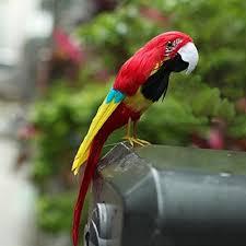 parrot home decor 1pc fake artificial parrot feather bird realistic garden home