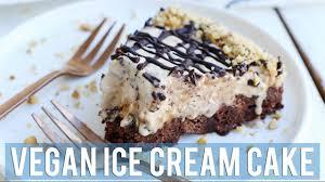 vegan ice cream cake easy vegan desserts youtube
