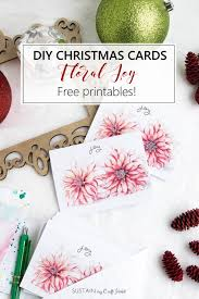 greeting cards free free printable diy christmas cards floral sustain my craft habit