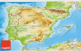physical map of spain physical 3d map of spain