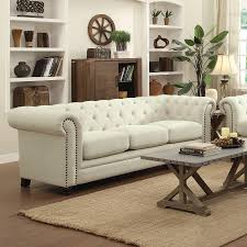 Button Tufted Sofas by Traditional Button Tufted Sofa With Rolled Back And Arms By