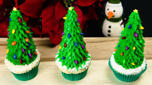 Christmas Cake Decorations Videos by Christmas Tree Cupcakes Christmas Cupcakes From Cookies Cupcakes