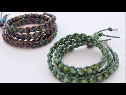 diy braided bracelet with beads images How to make a braided leather wrap bracelet jpg