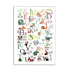 cartoon animals 26 english alphabet educational wall sticker pvc getsubject aeproduct getsubject