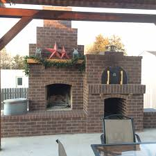 one of the best built outdoor fireplace and pizza oven combos we