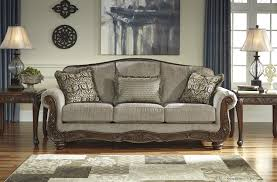 traditional sofas with wood trim camel back sofa with wood trim www energywarden net