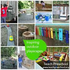Cheap Backyard Playground Ideas Inspiring Outdoor Playscapes Teach Preschool