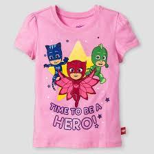 toddler girls u0027 pj masks short sleeve shirt pink target
