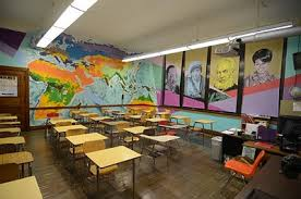high school class history teaching in a fishbowl classroom design wins