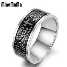 promise rings for men new fashion jewelry black stainless steel rings for men cross