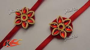 diy paper quilling rakhi for raksha bandhan how to make jk