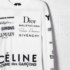 sweater brands sweater white fashion brands givenchy balenciaga rick owens