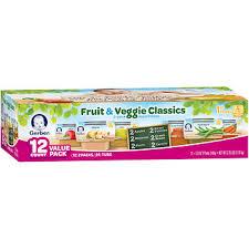 fruit club gerber 1st foods fruit veggie classics baby food 24 ct 2 5 oz