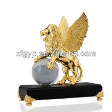 gold lion statue lion statue metal gold trophy with base buy lion