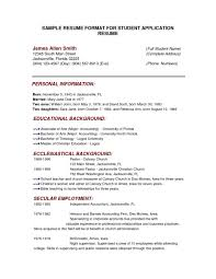 Student Resume Sample Pdf Sample Resume Format For Fresh Graduates One Page Format